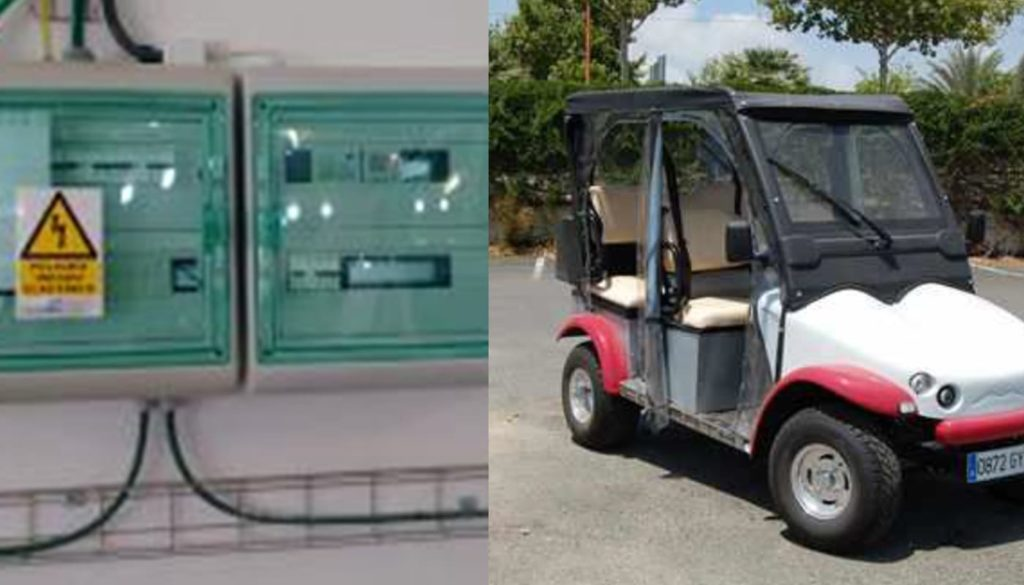 Figure 4: Installation of meters and controllers for the electric cars' charging point.